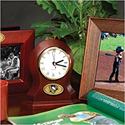The Memory Company NHL Pittsburgh Penguins Official Desk Clock, Multicolor, One Size
