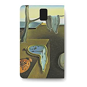Leather Folio Phone Case For Samsung Galaxy Note 3 Leather Folio - Melting Clocks Salvador Dali Fine Art Back Cover