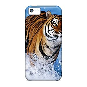 Iphone 5c Case Slim [ultra Fit] Tiger Protective Case Cover