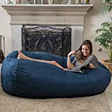 Haley 6 Ft Faux Suede Microfiber Bean Bag (Blue)