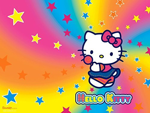 Hello Kitty Rainbow Stars Edible Cake Topper Frosting
