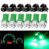 2006 audi a4 center console - CCIYU 6 X T10 5050 SMD Tri-Cell Green SMD LED Chips Dashboard Dash Gauge Instrument Panel Light w/Socket