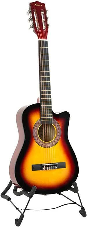 Karrera Childrens Acoustic Cutaway Wooden Guitar Ideal Kids Gift 1/2 Size - Sunburst