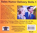 Sales Humor Delivery Skills 1, Farb, Daniel and Gordon, Bruce, 1932634436