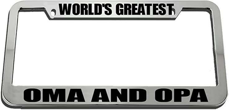 World/'s Greatest Opa Chrome Metal License Plate Frame