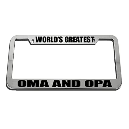Amazon.com : Speedy Pros World\'S Greatest Oma And Opa License Plate ...