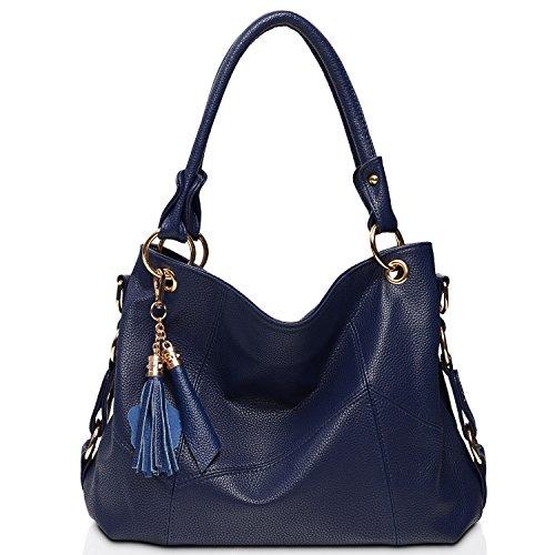 Blue Leather Handbags - 7