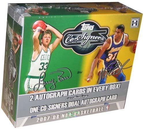 (2007/08 Topps Co-Signers Basketball HOBBY Box - 12 packs / 6 cards)