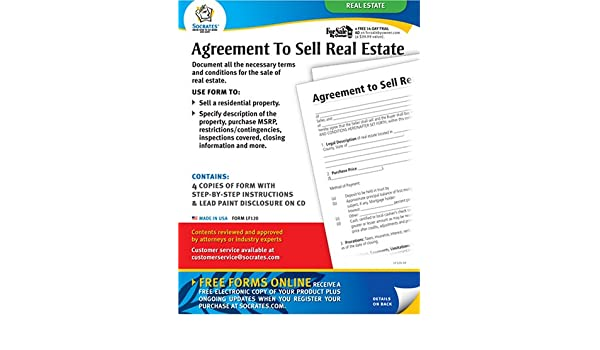 Agreement To Sell Real Estate Forms Socrates Media