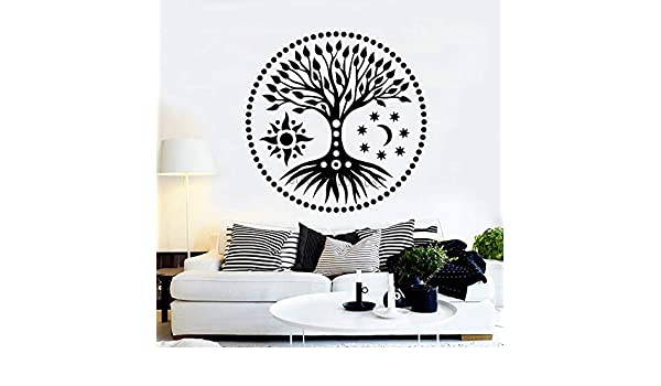 Geiqianjiumai Tree of Life Sun and Moon Stars Vinilo Adhesivo de ...