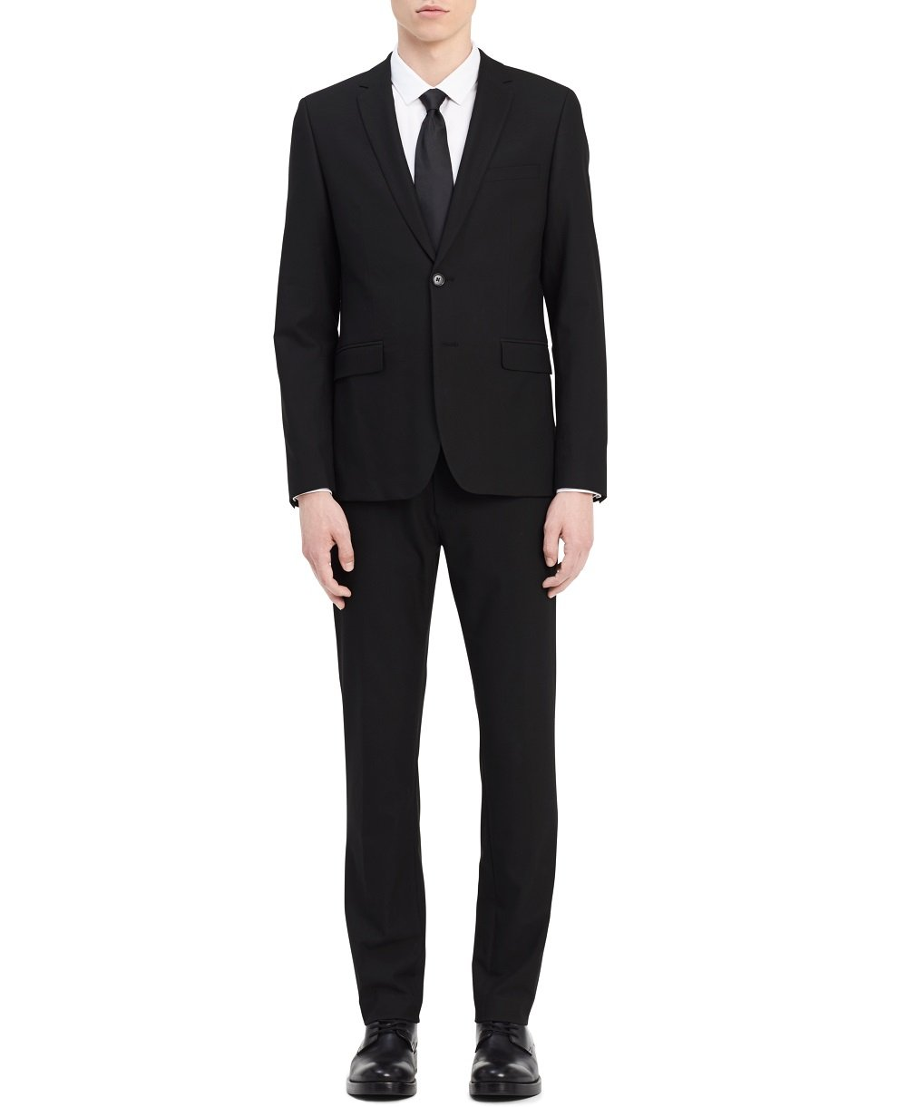 Calvin Klein Men's Infinite Slim Fit Suit Jacket 4-Way Stretch, Black, 2X-Large R