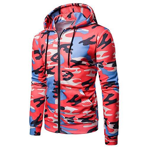Men's Hoodies, FORUU Long Sleeve Camouflage Hooded Sweatshirt Top Tee Outwear Blouse ()