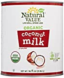 Natural Value Organic Coconut Milk, 96 Ounce Cans (Pack of 6)