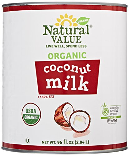 Natural Value Organic Coconut Milk, 96 Ounce Cans (Pack of 6) by Natural Value
