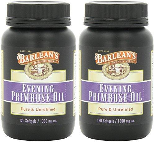 (Barlean's Organic Oils Organic Evening Primrose Oil, 120 Softgels (2 Pack))