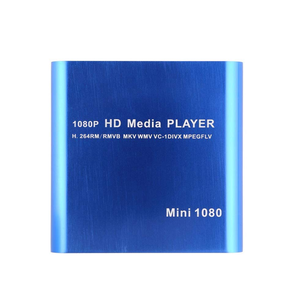 Shentesel 1080P Full HD Multi-Function Media Player with Host USB Card Reader Portable - Blue