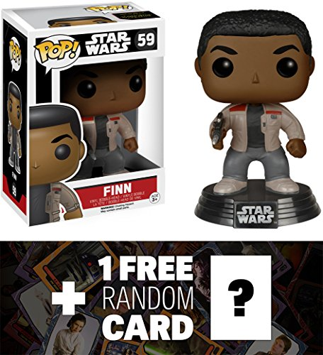 Star Wars Finn: Funko POP! x Vinyl Bobble-Head Figure w/ Stand + 1 Free Official Trading Card Bundle [62217]