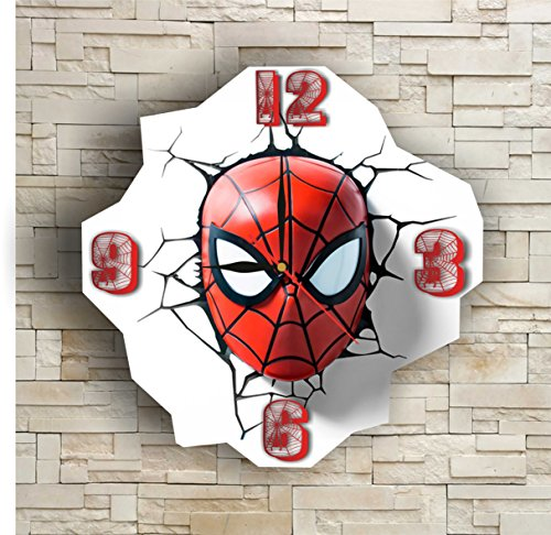 [SpiderMan 11.8'' Original Handmade Wall Clock - Get unique décor for home or office – Best gift ideas for kids, friends, parents and your soul] (Costume Spiderman Original)