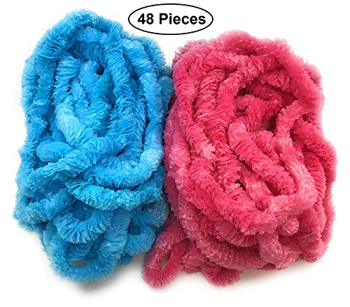 48 pcs Baby Gender Reveal Leis for Baby Shower Announcement Party Set of -