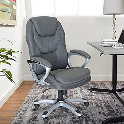 amazon com serta works executive office chair faux leather and