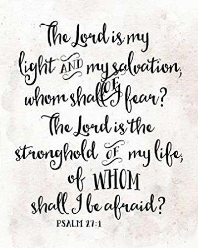 Posterazzi PDXTA1382SMALL Psalm 27:1 Poster Print by Tara Moss 8 x 10 ()