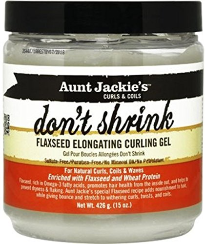 Aunt Jackie s Don t Shrink Flaxseed Elongating Curling Gel, 15 oz Pack of 3