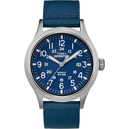 Men's Expedition Scout | Blue Strap & Dial Indiglo Outdoor Watch - Timex TW4B07000