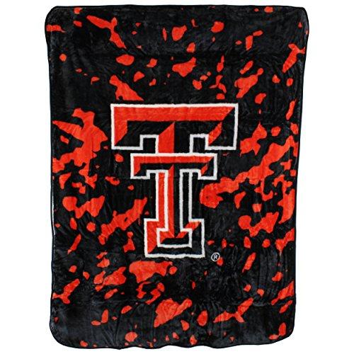 Texas Tech Bedding - College Covers Texas Tech Red Raiders 63 x 86 Soft Raschel Plush Throw Blanket