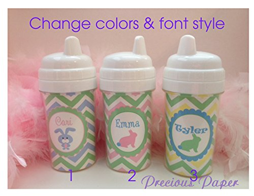 Personalized Easter sippy cups, Easter Bunny cups, Easter Basket stuff, Kids Easter cups