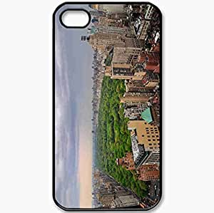 Protective Case Back Cover For iPhone 4 4S Case Center In New York New Erk New York Central Park In New York Home Black