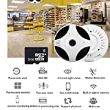 UGI 960P 360¡ã Panoramic Fisheye Ceiling Wireless IP Camera Two Way Audio With 32G Memory Card