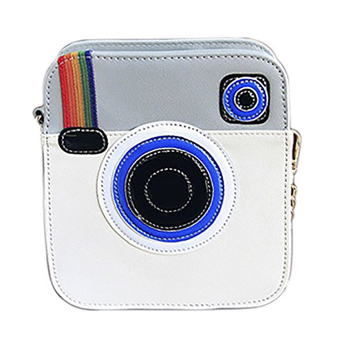 QZUnique Unique Camera Shaped Snapshot Clutch Women Pu Leather Crossbody Bag Purse
