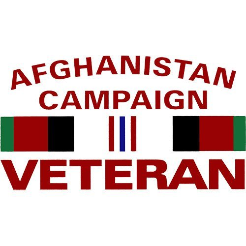 "Afghanistan Campaign Veteran with Campaign Ribbon 5.5""x3"" Decal"