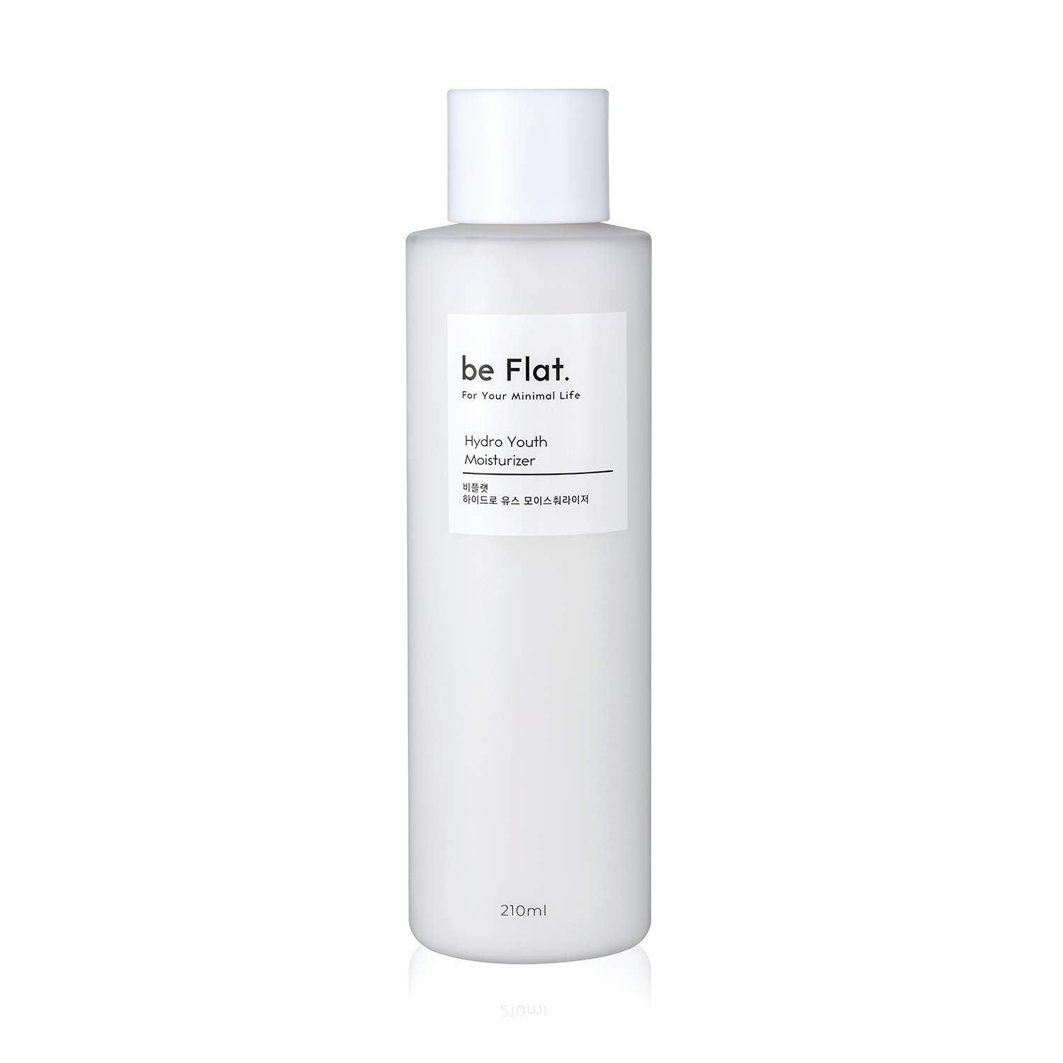 [be Flat] Hydro Youth Moisturizer 7.1 fl.oz, Extra Nourishing & Hydrating Daily Face Moisturizer with Flower and Herb Extracts for Dry, Oily, Acne Prone Skin, Korean Skin Care, Korean Beauty