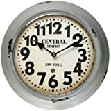 Deco De Ville Antique Vintage Retro Decorative European Design Creative New York Theme Metal Round Wall Clock