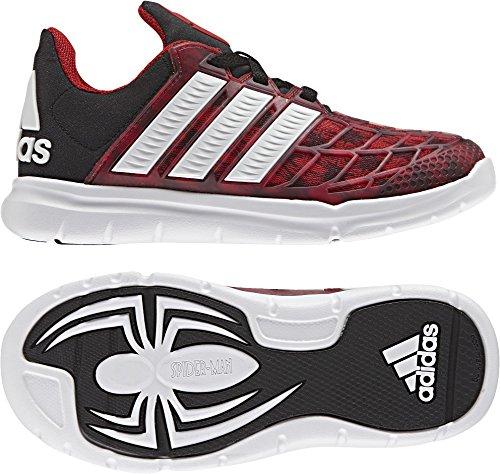 adidas Marvel Spider-Man K, Sneakers Basses Mixte Enfant, Rouge (Escarl/Ftwbla/Negbas), 40 EU