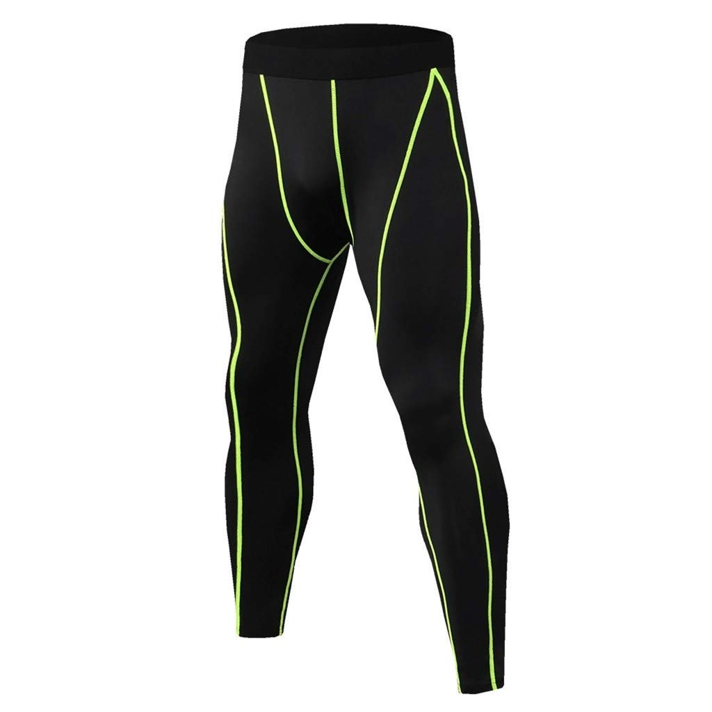 Beautyfine Mens Short-Sleeved Suit Fast Drying Fitness T-Shirt Long Pants Breathable Sports Tight Suit