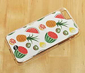 1888998132007 [Global Case] Food Fruits Watermelon Pineapple Banana Kiwi Strawberry There is always money in the banana stand Yellow White Apple Cherries Lemon Pomelo (BLACK CASE) Snap-on Cover Shell for Apple iPhone 4 / 4S