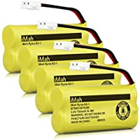 iMah Ryme B2-1 BT800 BT8300 Cordless Phone Batteries for Vtech CS6209 CS6219 CS6229 DS6121 DS6221 Motorola L601M L602 L603M L701 L702M L903 L513CBT DECT 6.0 Home Handset Telephone (Pack of 4)