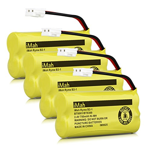 BT8300 Cordless Phone Batteries for Vtech CS6209 CS6219 CS6229 DS6121 DS6221 Motorola L601M L602 L603M L701 L702M L903 L513CBT DECT 6.0 Home Handset Telephone (Pack of 4) (Vtech Ls6204 Accessory Handset)