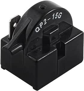 uxcell Plastic Shell Single Pin Refrigerator PTC Starter Relay QP2-15G 15 Ohm
