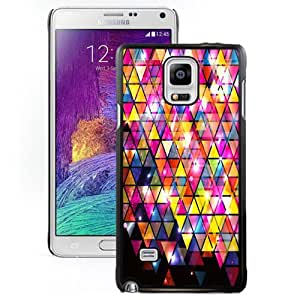 NEW DIY Unique Designed Samsung Galaxy Note 4 Phone Case For Shiny Triangle Pattern Phone Case Cover