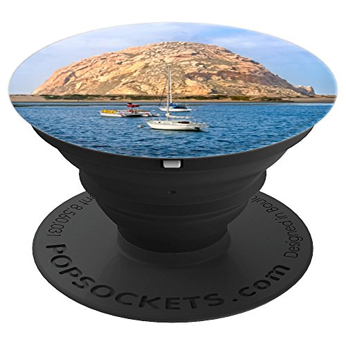 Morro Rock in Morro Bay California - PopSockets Grip and Stand for Phones and Tablets
