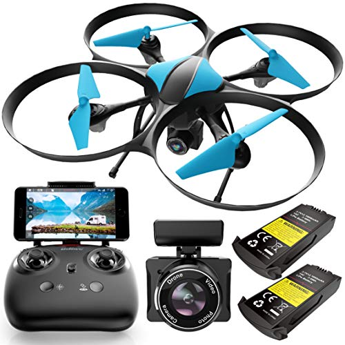 Force1 U49WF Drones with Camera for Adults and Kids - WiFi FPV Drone, 720p HD Camera Drone, VR Capable RC Drone