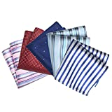 TopTie Men's Pocket Square Fashion Handkerchief Towel, 5 pc Mixed Pattern-SET6