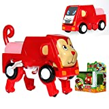 BABYA Auto Transform Into Car Wind-up Lovely Animal Toy for Kids TY-09
