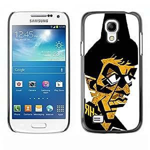 Caucho caso de Shell duro de la cubierta de accesorios de protección BY RAYDREAMMM - Samsung Galaxy S4 Mini i9190 MINI VERSION! - Gangster Mafia Portrait Poster