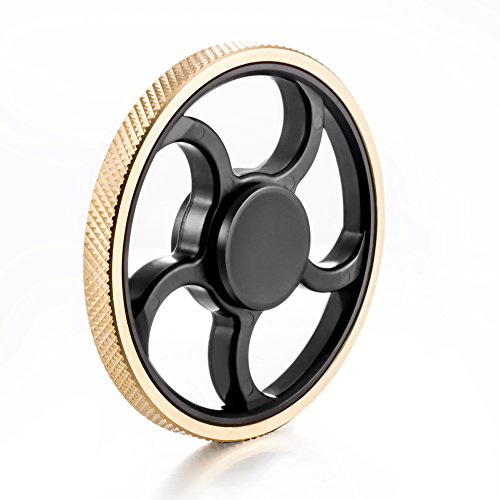 ANTI-SPINNER New Style Fidget Hand Spinner EDC Focus Anxiety Stress Relief Toy (Black)