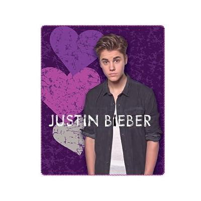 Justin Bieber Blanket the Bieber Heart Break Fleece Throw 50