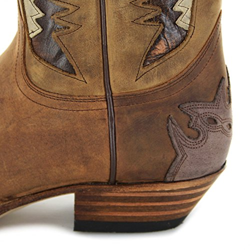 westernstiefel boots Sendra Ours 13171–ampoules Chocolate bottes 4Awtqd6wx